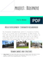 honors project  biosphere