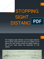 The Stopping Sight Distance