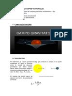 Graficos de Capos Electrico y Gravitatorios en Modellus