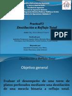 Destilación a Reflujo Total