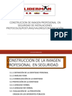 Construcción de Imagen Profesional en Seguridad de Instalaciones. Protocolosposturasvalorescomunicación