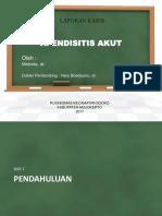 PKM Apendisitis Akut