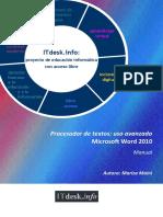 Procesador de Textos-uso Avanzado-Microsoft Word 2010-Manual