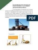 Maquinaria de Perforacion Utilizada en Operaciones en Mineria a Tajo Abierto
