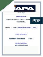 Tarea 1 Educacion Paz Aris