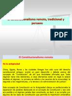 El constitucionalismo remoto, tradicional y peruano