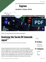 Analysing the Serato DJ Timecode Signal – Esgrove