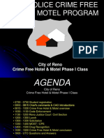 Reno Police Crime Free Hotel & Motel Program, 2018
