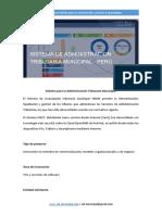 sistema de administracion tributaria municipal - Peru