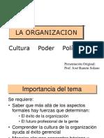 La Organización, Poder y Politica.