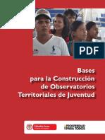 Bases Construccion Observatorios Territoriales Juventud