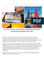 2017 in Review_ 5 Key Business Developments That Dominated Headlines This Year - Pakistan - DAWN