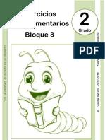 2do Grado - Bloque 3 - Ejercicios Complementarios.