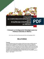 Relatoría foro políticas cult GDL 2012 copia
