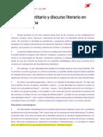 Discurso Identitario y Discurso Literario en América Latina2