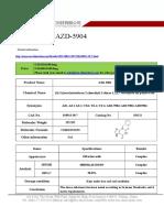 Datasheet of AZD-5904|CAS 618913-30-7|sun-shinechem.com