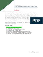 CCIE SECv5 LAB1 Diagnostic Question Set