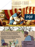 1st Quarter 2018 Lesson 2 Powerpoint Presentation (I See, I Want, I Take)