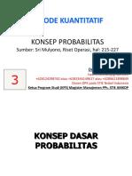 (Pert 3) Konsep Dasar Probabilitas
