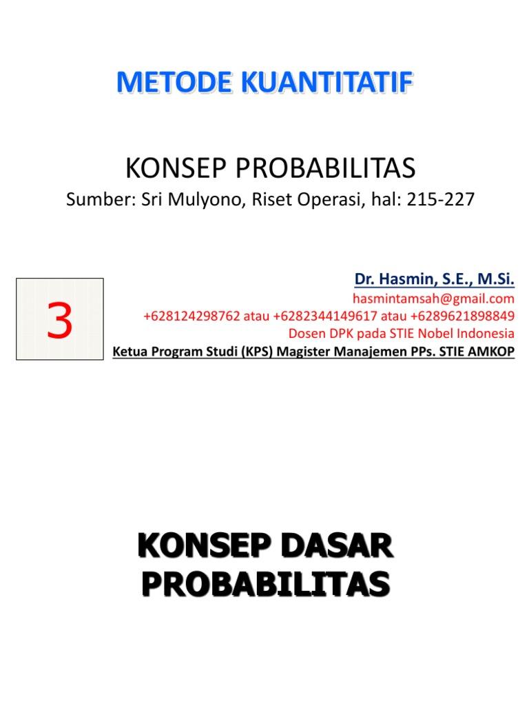 Pert 3 konsep dasar probabilitas pert 3 konsep dasar probabilitas ccuart Gallery