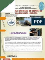 Sistema Nacional de Gestión de Los Recursos Hídricos