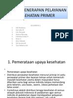 Prinsip Penerapan Pelayanan Kesehatan Primer