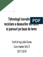 Tehnologii Inovative de Reciclare a Deseurilor Din Lemn