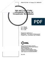 Design and Cost of Solar Photocatalytic