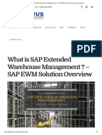 What is SAP Extended Warehouse Management
