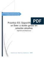 Practica 02 - Saponificacion