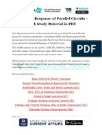 Sinusoidal Response of Parallel Circuits - GATE Study Material in PDF