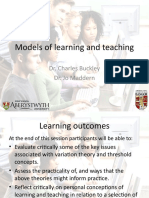 Models of Teaching and Learning