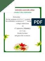 invitation letter for teachers day
