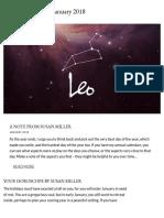Leo Horoscope for January 2018 - Susan Miller Astrology Zone