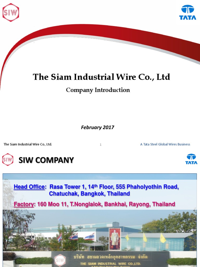 SIW Company Introduction - Feb 2017 | Wire | Thailand