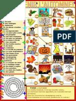 Voici Venir Lautomne Dictionnaire Visuel Feuille Dexercices 101023