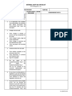 IMS Internal Audit Checklist - Sample