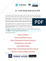 AC Transients - GATE Study Material in PDF