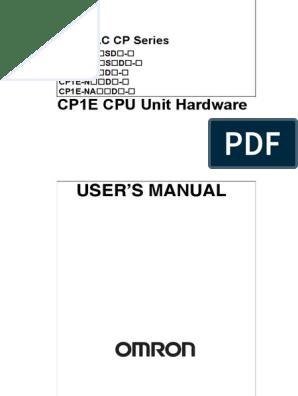 Cp1e Programmable Logic Controller Input Output