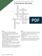 Trade Unit 2 Economics Revision CrosswordUnit 2 Economics Revision Crossword - WordMint Ans