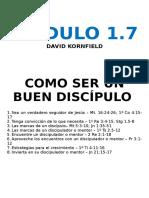 1.7. Como Ser Un Buen Discipulo