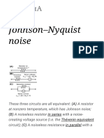 Johnson–Nyquist Noise