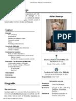 Julian Assange - Wikipedia, La Enciclopedia Libre