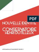 Antoni Marchal - Refonte Graphique du logo du Conservatoire Henri Dutilleux de Belfort - MMI