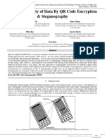 Efficient Security of Data by QR Code Encryption and Steganography