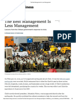 The Best Management is Less Management