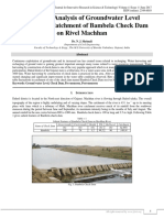 Study and Analysis of Groundwater Level Variation in Catchment of Bambela Check Dam on Rivel Machhan