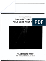 19880600 E-99 Sheet Pile Wall Field Load Test Report