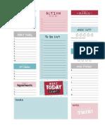 Organisation home printables