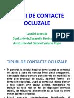 Tipuri de Contacte Ocluzale